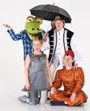 Actoren in kostuum royalty-vrije stock foto