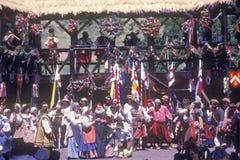 Actoren in Kostuum bij Renaissance Faire, Agoura, Californië royalty-vrije stock foto's