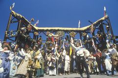 Actoren in Kostuum bij Renaissance Faire, Agoura, Californië stock foto's