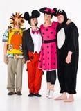 Actoren in kostuums Stock Foto