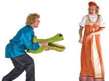Actoren in kostuums stock afbeeldingen