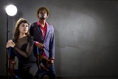 Actores de moda Imagen de archivo libre de regalías