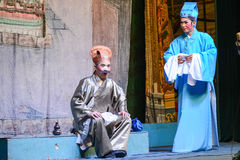 Actores que realizan ópera del chino tradicional en el festival de fantasma Imagenes de archivo