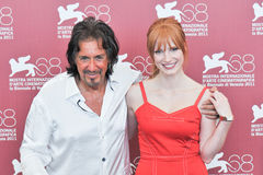 Actors Al Pacino and Jessica Chastain Stock Images