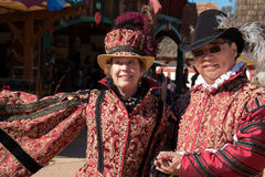Actors at Arizona Renaissance Festival. Royalty Free Stock Images