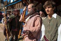 Actors at Arizona Renaissance Festival. Stock Photo