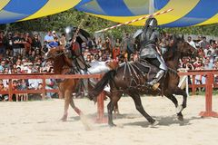 Actors as medieval knights Royalty Free Stock Photo
