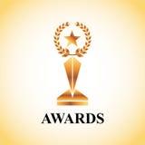 Actors awards design Royalty Free Stock Photo