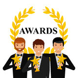 Actors awards design Royalty Free Stock Photo