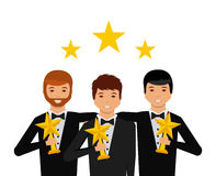 Actors awards design Royalty Free Stock Image
