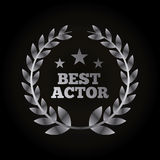 Actors awards design Royalty Free Stock Photography