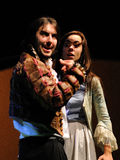Actors of the Barcelona Theater Institute, play in the comedy Shakespeare For Executives Stock Image