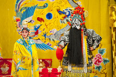 Actors of the Beijing Opera Troupe. BEIJING - NOVEMBER 18: Actors of the Beijing Opera Troupe perform the famous story Farewell to my Concubine at the Huguang Stock Images