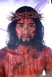 Actors and Characters in the reenactment of the Passion of Christ. Royalty Free Stock Photo