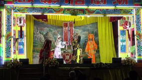 Actors chinese opera show. stock video footage