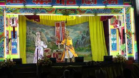 Actors chinese opera show. stock video
