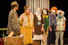 Actors clowns stock image