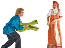 Actors in costumes Stock Images