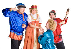 Actors in Costumes royalty free stock photos