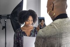 Free Actors Doing A Self Tape Casting Session Royalty Free Stock Photo - 139518045
