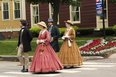 Actors dressed as Fathers and Ladies of Confederation in Charlot Stock Images