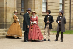 Actors dressed as Fathers and Ladies of Confederation in Charlot Royalty Free Stock Photos