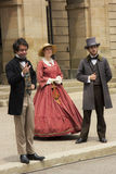 Actors dressed as Fathers and Ladies of Confederation in Charlot Stock Photography