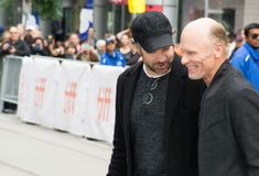 Actors Ed Harris and Jason Sudeikis 2017 Royalty Free Stock Images