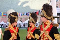 Actors historical animation of the mikhailovsky ( engineering ) castle Stock Photos