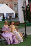 Actors historical animation of the mikhailovsky ( engineering ) castle Royalty Free Stock Photos