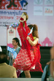 Actors holding puppets in Harmony World Puppet Carnival in Bangkok. Royalty Free Stock Images