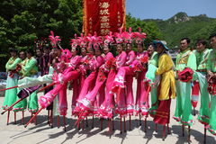 Actors performs Stilts ,China Stock Images