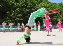 Actors performs Stilts ,China Stock Photos