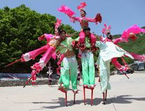 Actors performs Stilts ,China Stock Image