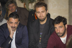 Actors pio,amedeo and edoardo leo Stock Photography