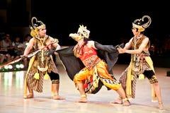 Actors of Ramayana ballet performs at Prambanan temple in Yogyak Stock Image