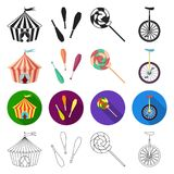 Actors, recreation, entertainment and other web icon in different style.seats, attraction, performance, icons in set Royalty Free Stock Images