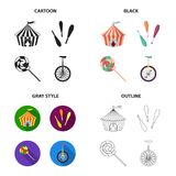 Actors, recreation, entertainment and other web icon in different style.seats, attraction, performance, icons in set Royalty Free Stock Photography