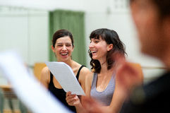 Actors rehearsal Commedia dell'arte stock image