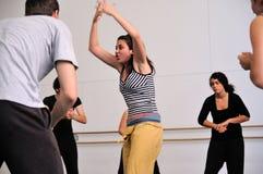 Actors rehearsal Commedia dell'arte. BARCELONA - MAR 3: Actors rehearsal Commedia dell'arte on March 3, 2011 in Barcelona, Spain Royalty Free Stock Photos