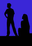 Actors in Silhouette Stock Image