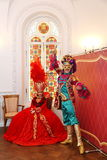 Actors of theatre of ballet, the Prime Minister greeted guests in the state rooms of the Palace Olympia Stock Photography