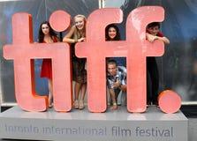 Actors at TIFF sign Stock Image