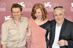 Actors Willem-Dafoe, Shanyn Leigh and director Abel Ferrara Royalty Free Stock Photo