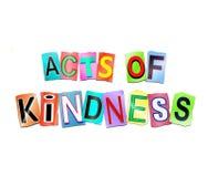 Actos del concepto de la amabilidad stock de ilustración