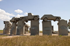 Actraction av carhenge, nebraska USA fotografering för bildbyråer
