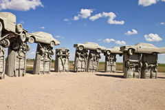 Actraction av carhenge, nebraska USA arkivbilder