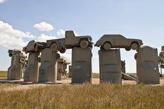 Actraction carhenge, Небраски США Стоковое Изображение