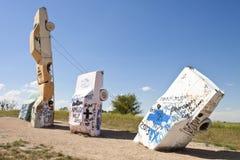 Actraction carhenge, Небраски США Стоковая Фотография RF