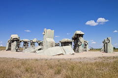 Actraction von carhenge, Nebraska USA Lizenzfreies Stockbild